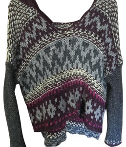 Free People Top pink purple grey