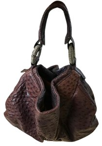 Nuvi Ostrich Tote in Brown