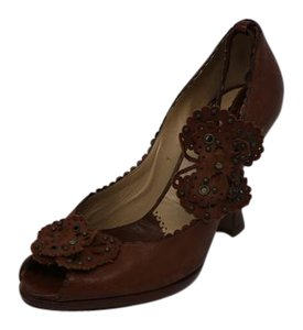 Moschino Ankle Strap Floral brown Pumps