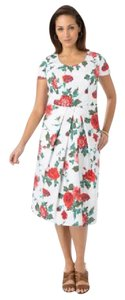 Jessica London short dress White/Pink Floral Capsleeve on Tradesy