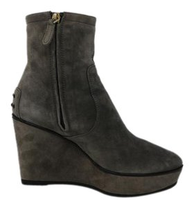 Tod's Ankle Suede Wedge grey Boots