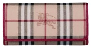 Burberry Haymarket Check WInsley Long Wallet