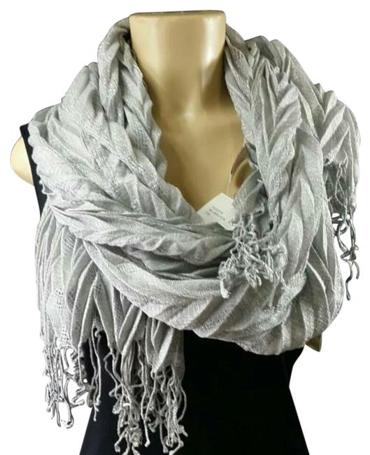 """Item - Grey Xiix Women's Shawl/Wrap Color Metalic 68"""" Length Made Of Polyester and Acrylic Blend Store Retail Scarf/Wrap"""