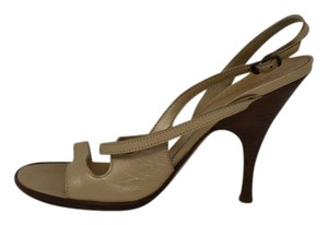 Max Mara Gold Ankle Strap soft gold Sandals