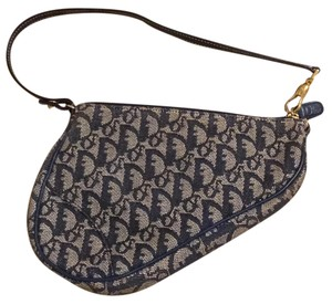 Dior Wristlet in navy and grey
