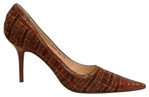 Dolce&Gabbana Multi colored tweed and crocodile Pumps