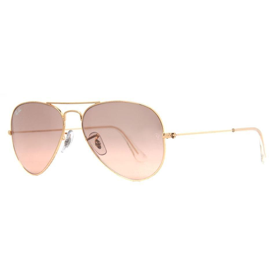 d0c087ac79 Ray-Ban Ray Ban RB 3025 001 3E Gold Frame Pink Silver Mirror Sunglasses ...