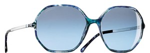 Chanel CHANEL Round Signature Sunglasses Blue Multi / Silver