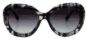 Chanel Chanel Sunglasses Black Tweed Oversized Butterfly Gradient