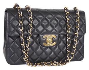 Chanel Jumbo Chain Messenger Cross Body 2.55 Shoulder Bag