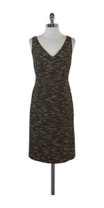 Magaschoni short dress Brown Tweed V-neck on Tradesy