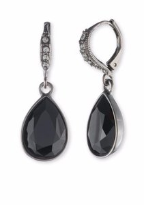 Givenchy Givenchy Light Hematite Jet Pear Drop Earrings