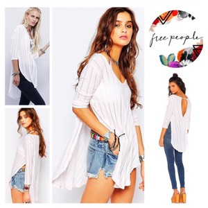 Free People Ribbed Shirt Tunic