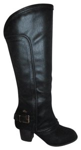 Fergalicious by Fergie Man Made Faux Leather black Boots