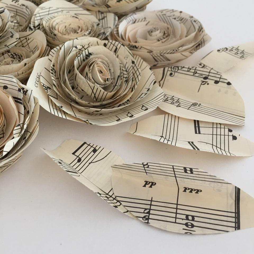 Sheet Music Paper Flowers Reception Decoration Tradesy
