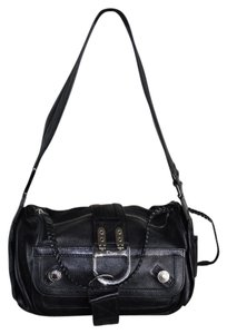 Dior Christian Embroidered Leather Flight Shoulder Bag
