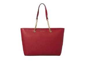 Michael Kors Jet Set Item Pocket Ote Jet Set Travel Tote in Cherry