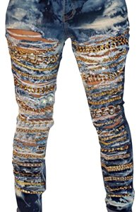 Others Follow Straight Leg Jeans-Distressed