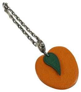 Hermès Hermes vintage orange keychain or bag charm