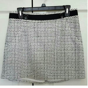 The Limited Mini Skirt Black and white