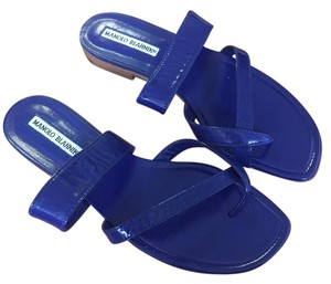Manolo Blahnik Royal Blue Sandals