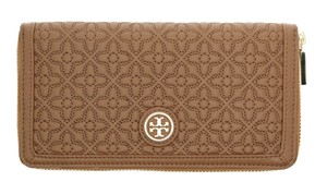 Tory Burch Bryant Zip Continental Wallet Clutch Luggage NWT w/Gift Receipt