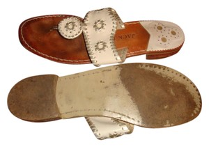 Jack Rogers White/Silver Sandals