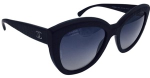 Chanel Butterfly Black Matte Polarized Sunglasses