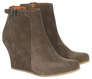 Lanvin Suede Wedge Fall Winter Taupe Boots