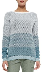 Vince Blue Gradient Soft Knit Ombre Sweater
