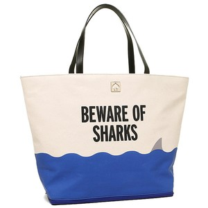 Kate Spade Beach Canvass Rey Tote in WHITE/BLUE