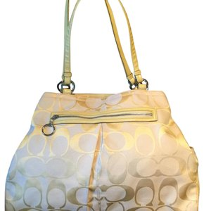 Coach Tote in light yellow