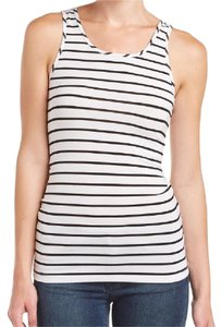 Tart Top black white stripe