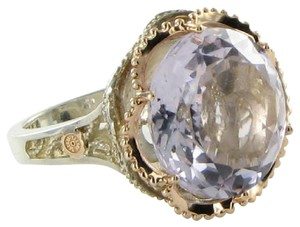 Tacori 18k925 Ring Sz 6.5 53 Lilac Blossoms Budding Crescent Rose Amethyst 18