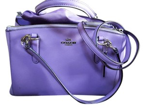 Coach Mint Leather Crossbody Small Carryall Satchel in lilac purple