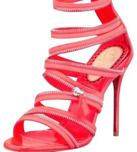 Christian Louboutin Neon pink and silver Sandals