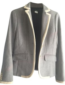 J.Crew Lexington White Trim grey Blazer