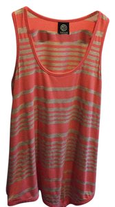 Bobeau Top coral and heather gray