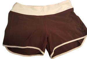 Lululemon Speed Hot Yoga Burgundy and pink Shorts