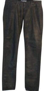 Hudson Jeans Leather Looking Skinny Jeans-Coated