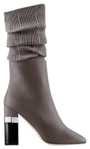 Chanel Cc Sock Kangaroo Grey Boots