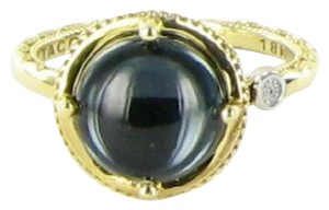 Tacori 18k925 Golden Bay Ring Blue Topaz Hematite Doublet 18k Yellow Gold