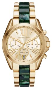 Michael Kors NEW WOMENS MICHAEL KORS (MK6397) BRADSHAW GOLD TONE JADE CHRONO WATCH