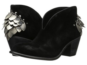 Matisse Festival Bohemian Luxe Suede Silver Hardware Black Boots