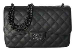 Chanel 2017 Calfskin Rare Jumbo Shoulder Bag