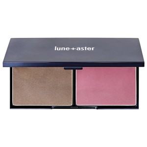 lune + aster Bronzer and blush sunrise bronzer and blush palette, .57 oz.