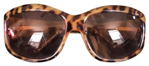 over sized animal print sunglass over sized