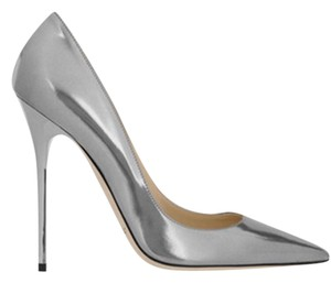 Jimmy Choo silver, Anthracite Pumps