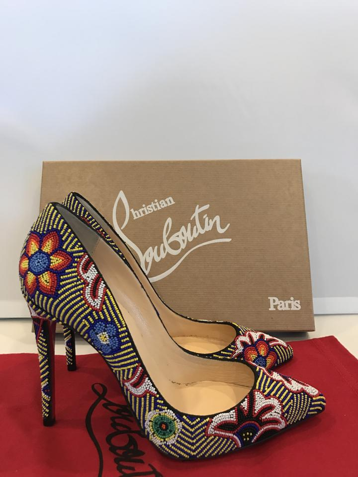 80059df48b20 Christian Louboutin Miss Taos Beaded Floral Flower Blake Lively Multicolor  Pumps Image 9. 12345678910