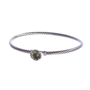 David Yurman Chatelaine Bracelet with Prasiolite 3mm Size Medium $325 NEW